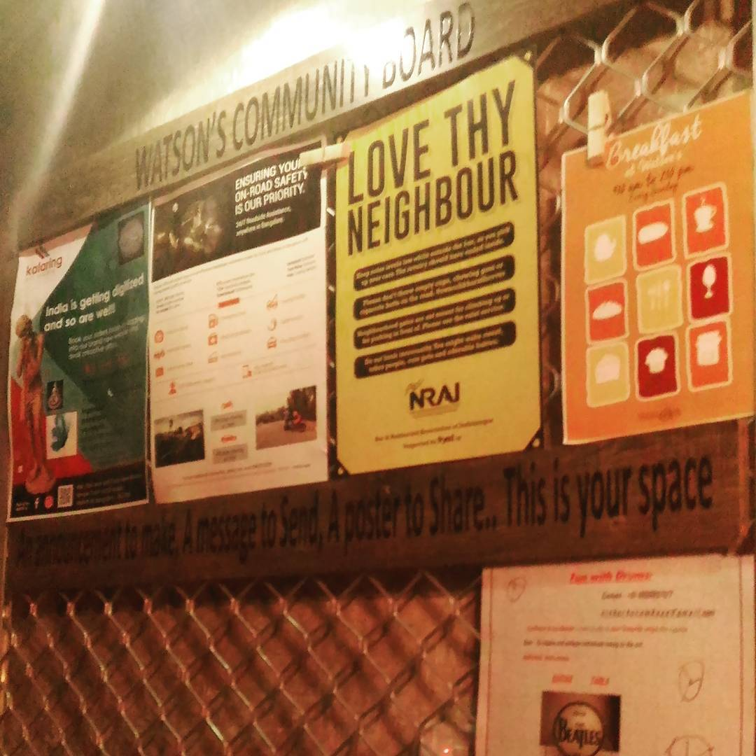 From book stores to pubs we have community boards. Love it.