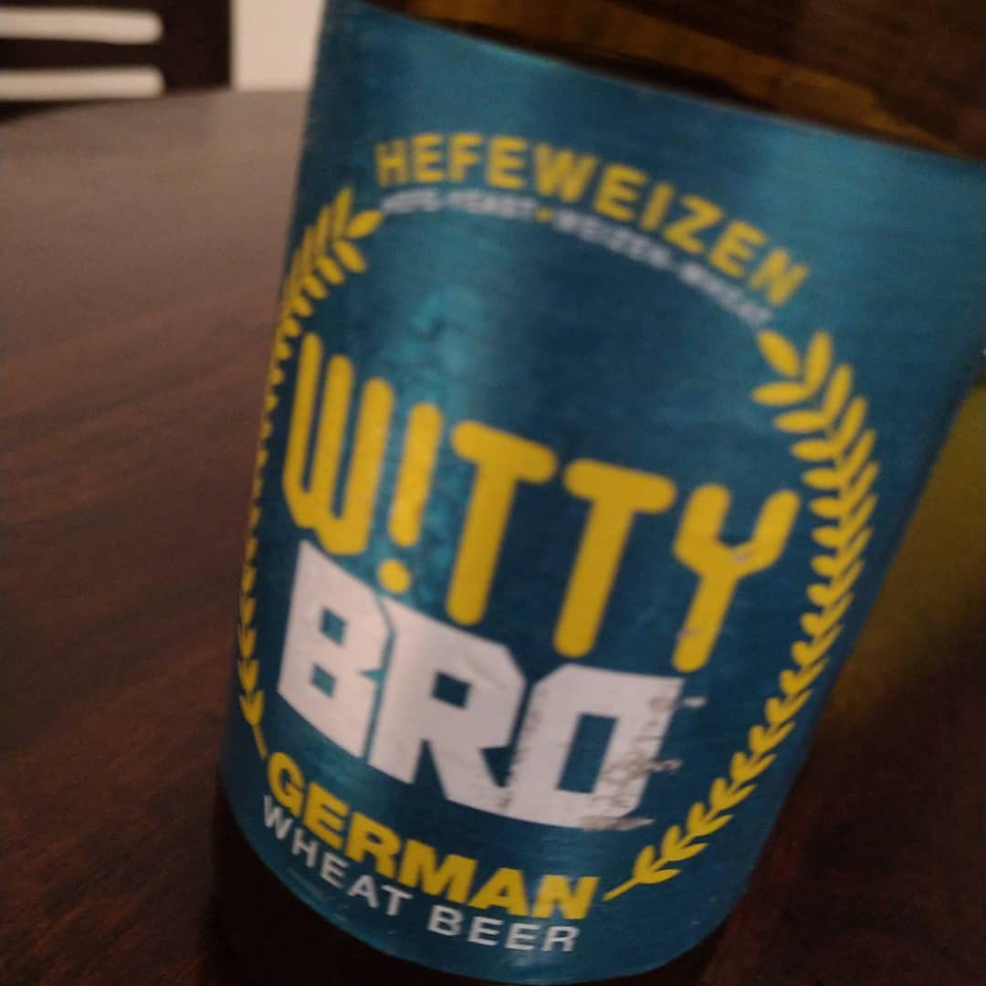 Witty Bro, German, Wheat Beer, It's lite. 6/10
